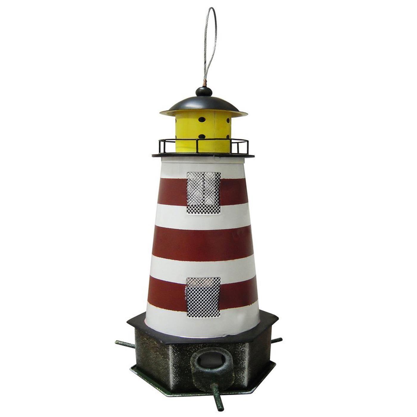gelb Habau 1786 Metall Vogel Futtersilo Leuchtturm Futterstation Säule