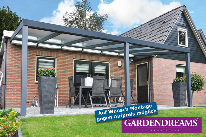 Gardendreams Terrassen-Überdachung LEGEND Editon Glas